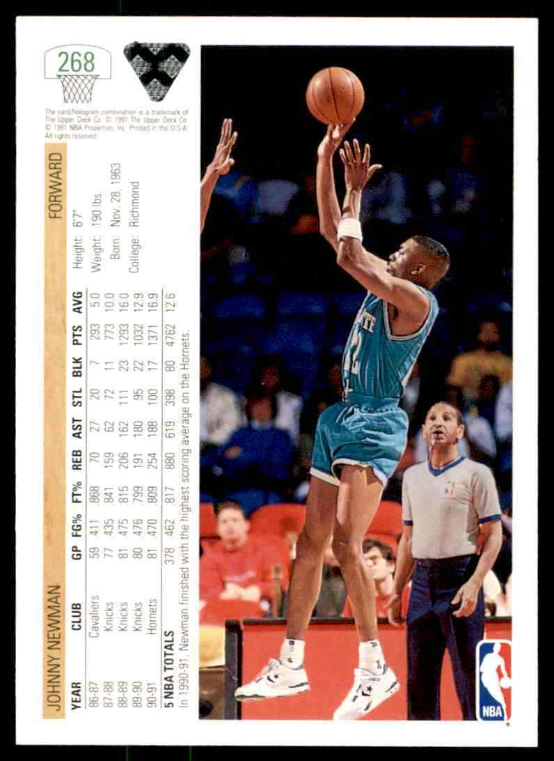 thumbnail 268 - 1991-92 Upper Deck Basketball NBA Choose Your Player -Real Pics Rookie Star (B)