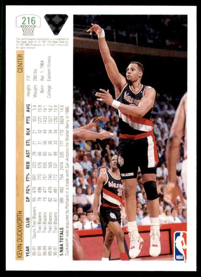 thumbnail 286 - 1991-92 Upper Deck Basketball NBA Choose Your Player -Real Pics Rookie Star (B)