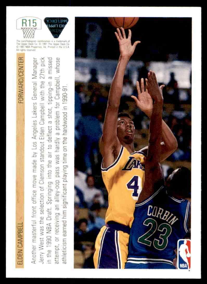 thumbnail 172 - 1991-92 Upper Deck Basketball NBA Choose Your Player -Real Pics Rookie Star (B)