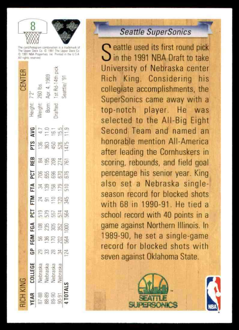 thumbnail 380 - 1991-92 Upper Deck Basketball NBA Choose Your Player -Real Pics Rookie Star (B)
