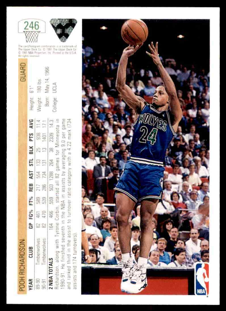 thumbnail 368 - 1991-92 Upper Deck Basketball NBA Choose Your Player -Real Pics Rookie Star (B)