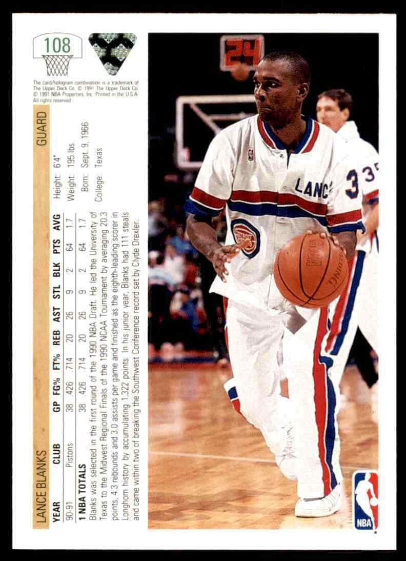 thumbnail 298 - 1991-92 Upper Deck Basketball NBA Choose Your Player -Real Pics Rookie Star (B)