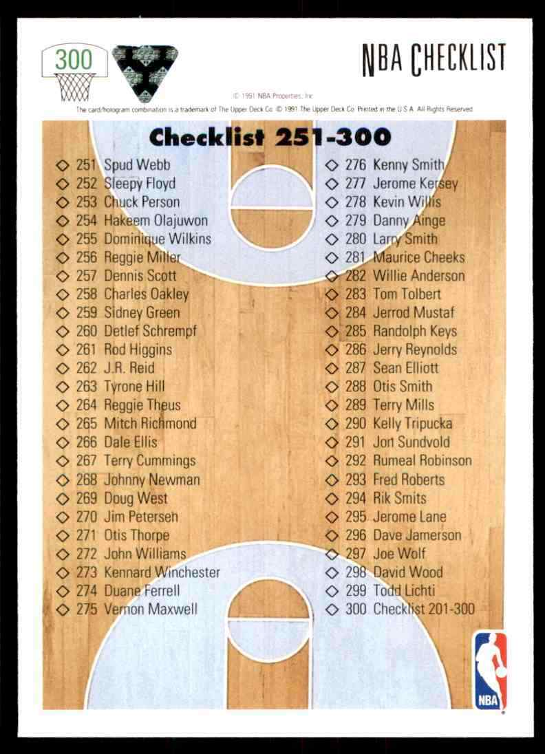 thumbnail 78 - 1991-92 Upper Deck Basketball NBA Choose Your Player -Real Pics Rookie Star (B)