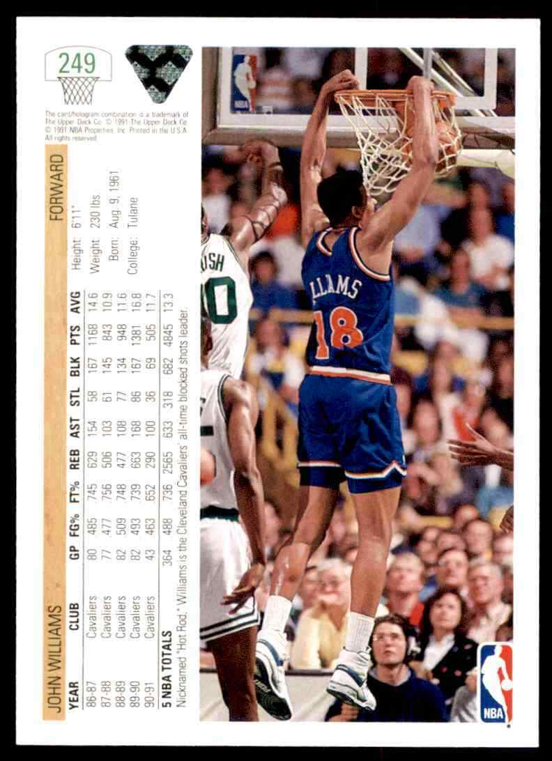 thumbnail 266 - 1991-92 Upper Deck Basketball NBA Choose Your Player -Real Pics Rookie Star (B)
