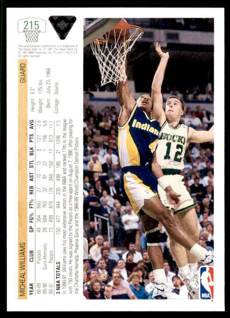 thumbnail 342 - 1991-92 Upper Deck Basketball NBA Choose Your Player -Real Pics Rookie Star (B)
