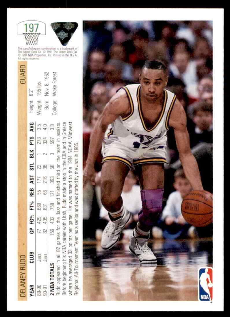 thumbnail 142 - 1991-92 Upper Deck Basketball NBA Choose Your Player -Real Pics Rookie Star (B)