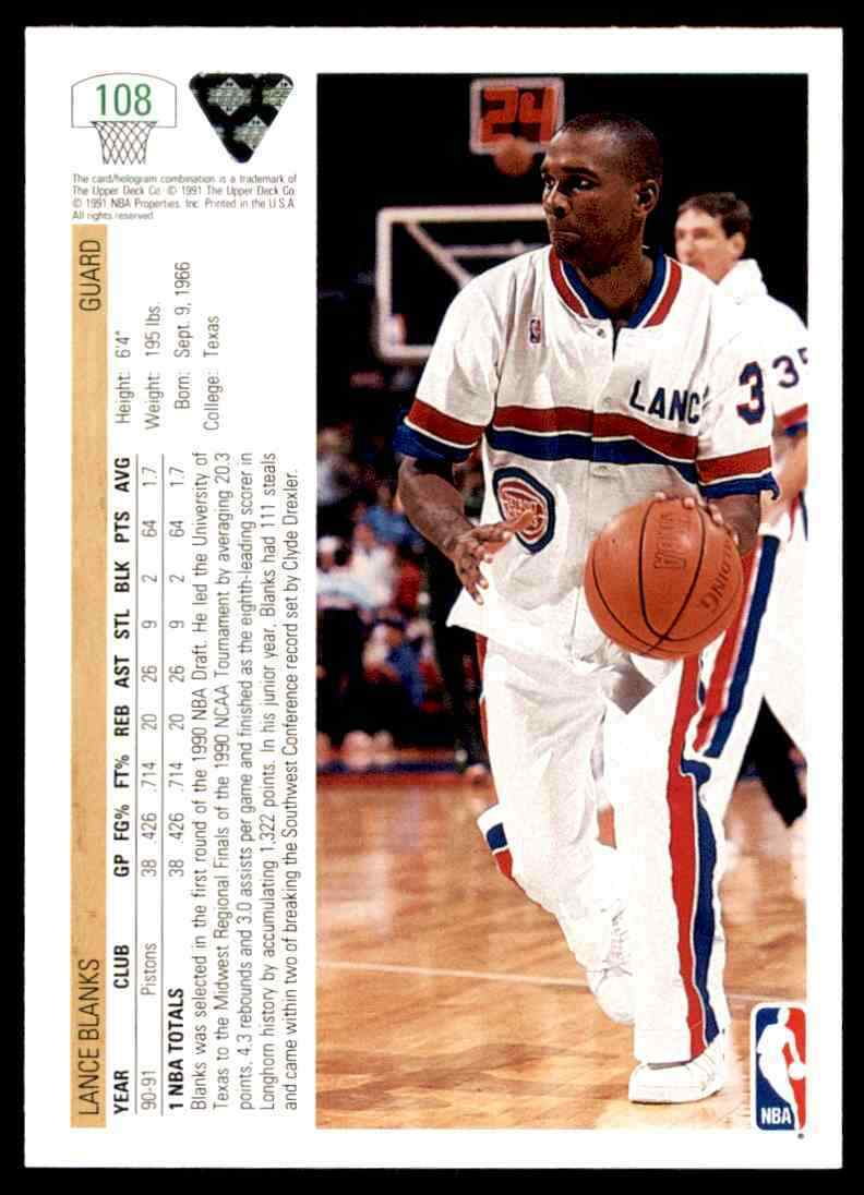 thumbnail 296 - 1991-92 Upper Deck Basketball NBA Choose Your Player -Real Pics Rookie Star (B)