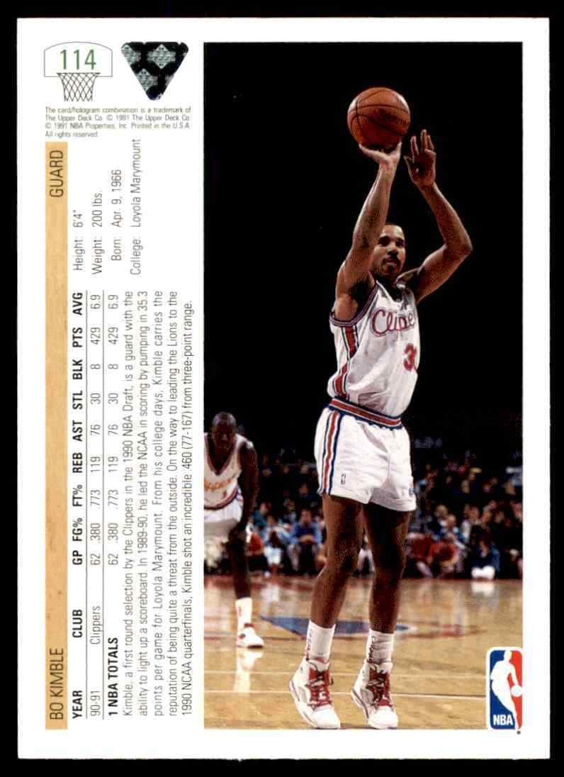 thumbnail 50 - 1991-92 Upper Deck Basketball NBA Choose Your Player -Real Pics Rookie Star (B)
