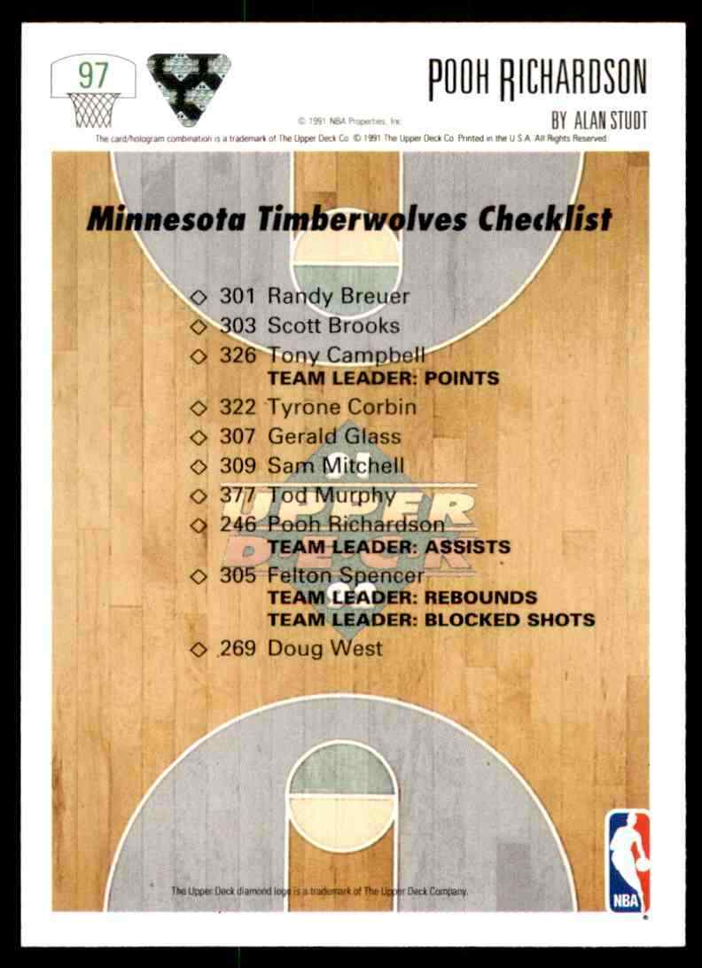 thumbnail 370 - 1991-92 Upper Deck Basketball NBA Choose Your Player -Real Pics Rookie Star (B)
