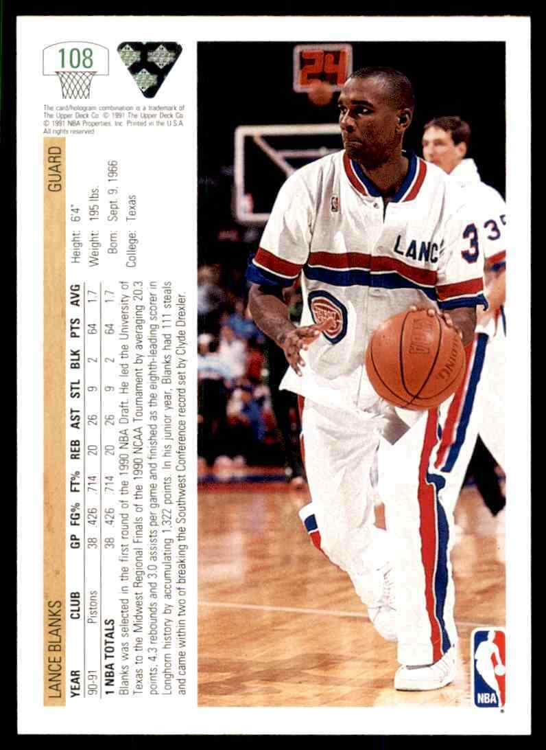thumbnail 294 - 1991-92 Upper Deck Basketball NBA Choose Your Player -Real Pics Rookie Star (B)