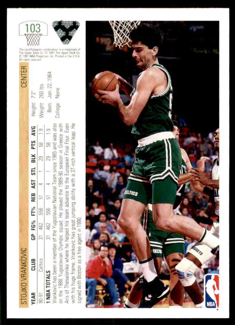 thumbnail 450 - 1991-92 Upper Deck Basketball NBA Choose Your Player -Real Pics Rookie Star (B)
