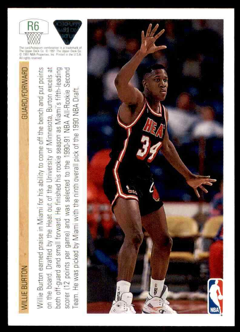thumbnail 498 - 1991-92 Upper Deck Basketball NBA Choose Your Player -Real Pics Rookie Star (B)