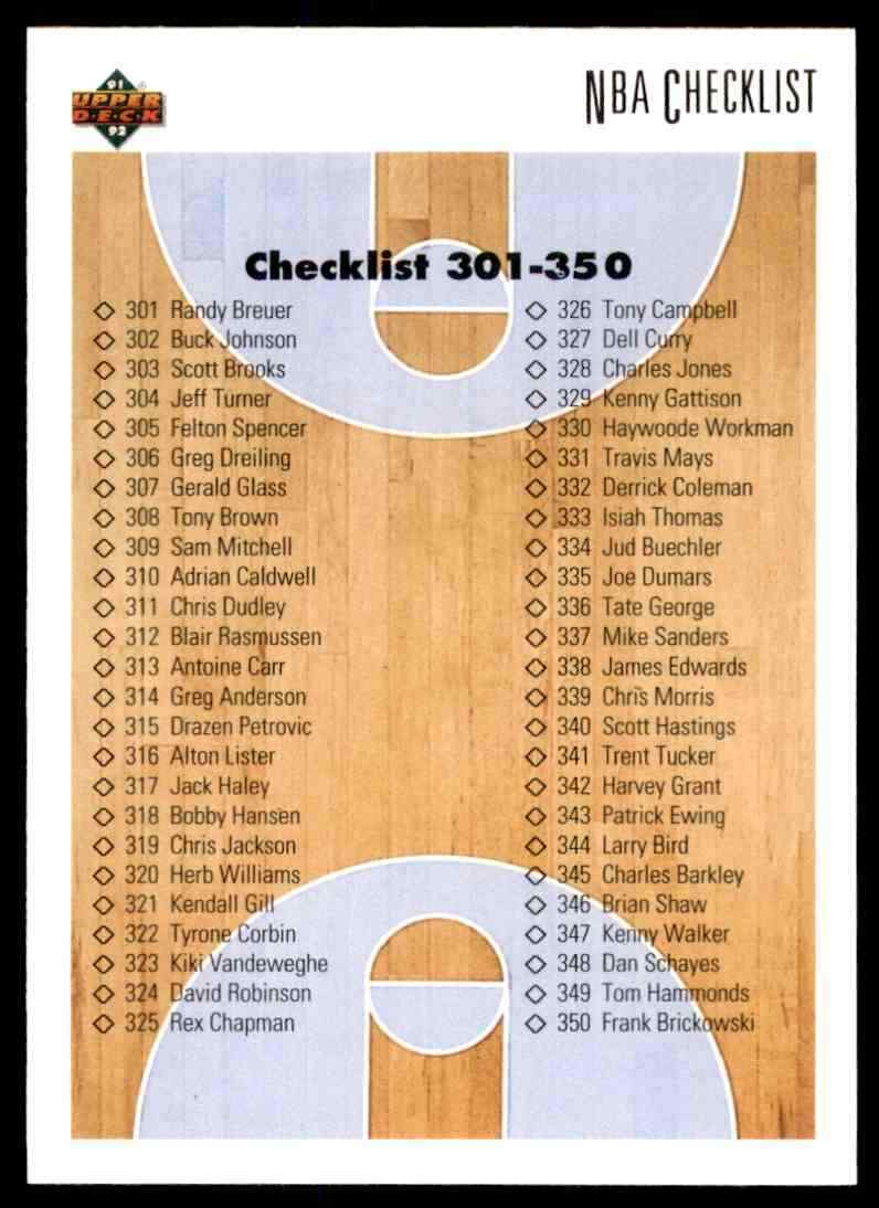thumbnail 84 - 1991-92 Upper Deck Basketball NBA Choose Your Player -Real Pics Rookie Star (B
