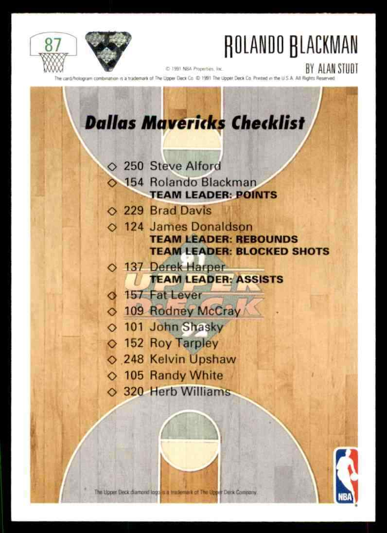 thumbnail 352 - 1991-92 Upper Deck Basketball NBA Choose Your Player -Real Pics Rookie Star (B