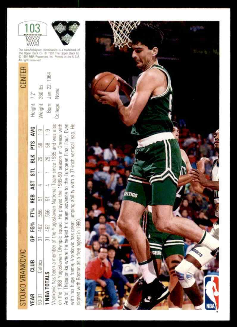 thumbnail 383 - 1991-92 Upper Deck Basketball NBA Choose Your Player -Real Pics Rookie Star (B