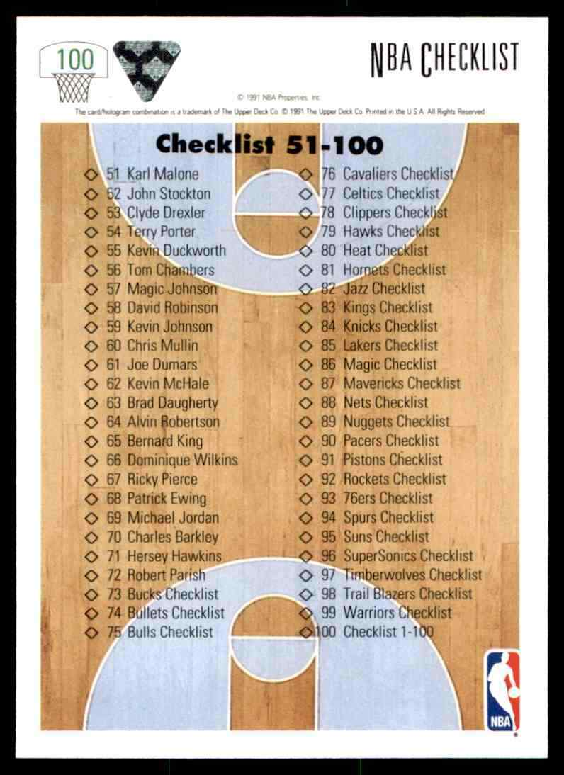 thumbnail 75 - 1991-92 Upper Deck Basketball NBA Choose Your Player -Real Pics Rookie Star (B