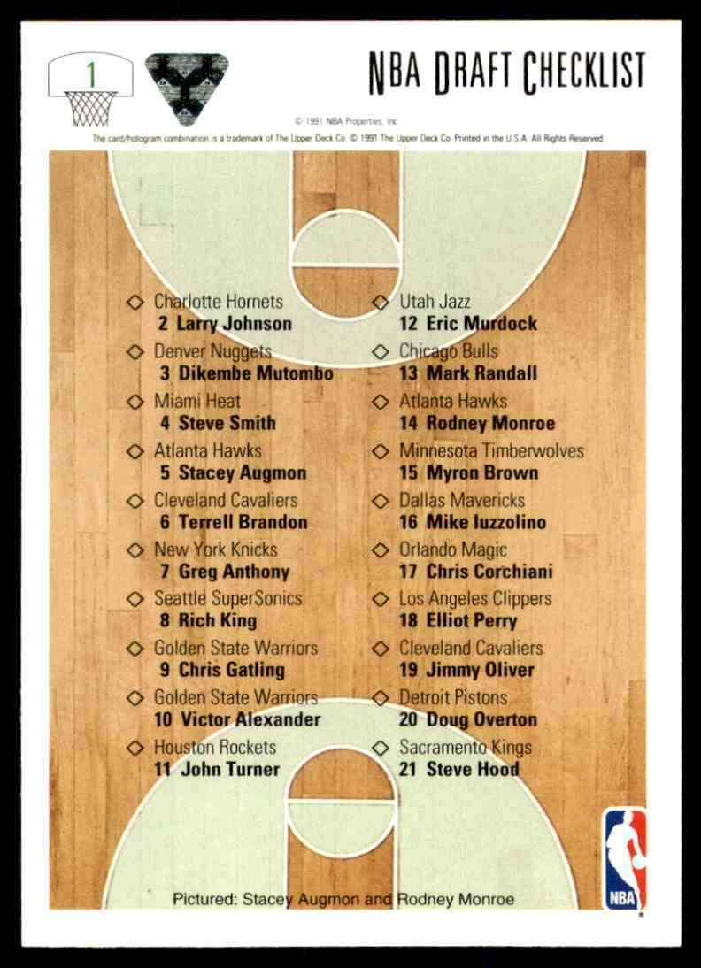 thumbnail 74 - 1991-92 Upper Deck Basketball NBA Choose Your Player -Real Pics Rookie Star (B