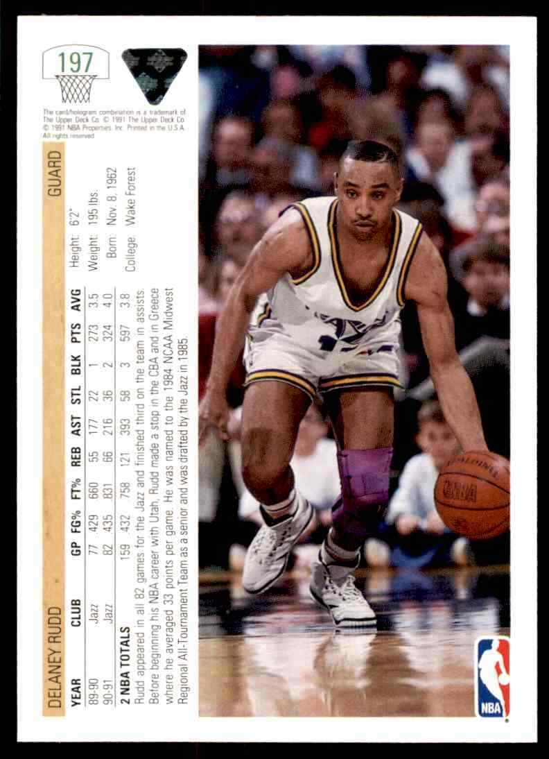 thumbnail 112 - 1991-92 Upper Deck Basketball NBA Choose Your Player -Real Pics Rookie Star (B