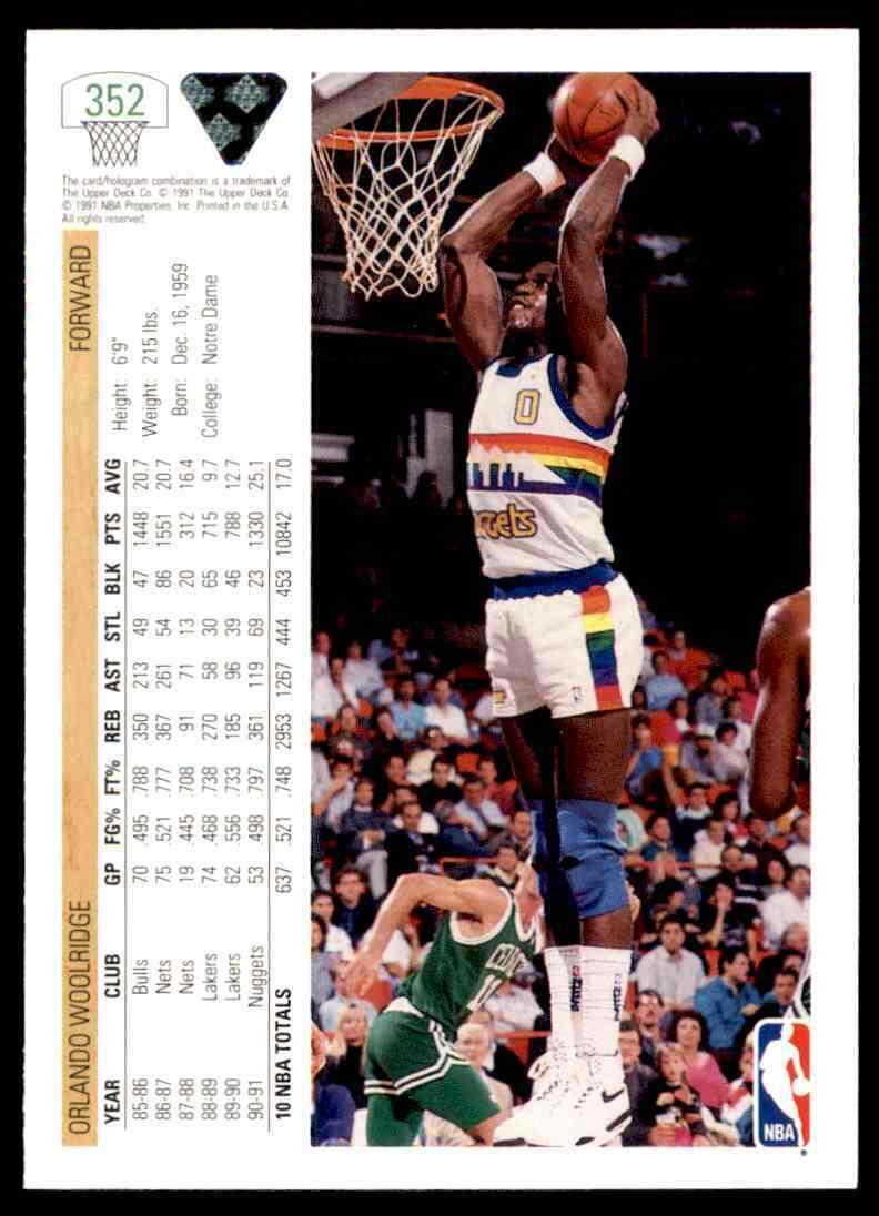 thumbnail 304 - 1991-92 Upper Deck Basketball NBA Choose Your Player -Real Pics Rookie Star (B