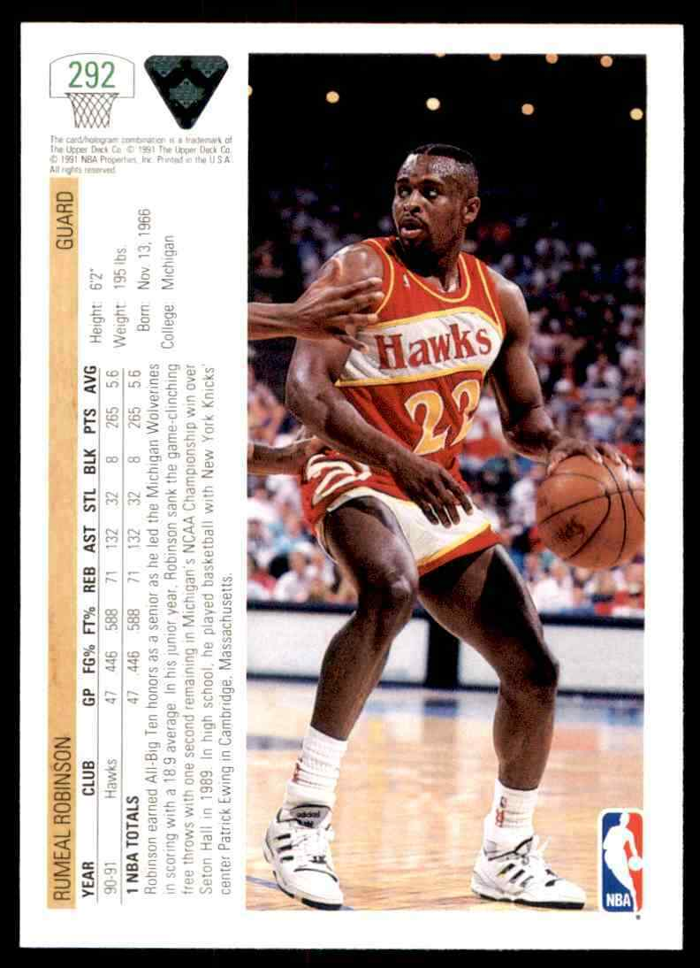 thumbnail 356 - 1991-92 Upper Deck Basketball NBA Choose Your Player -Real Pics Rookie Star (B