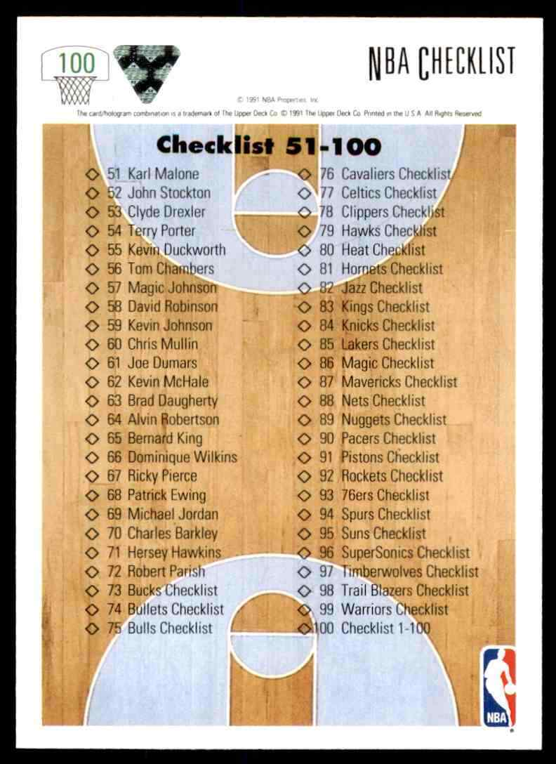 thumbnail 86 - 1991-92 Upper Deck Basketball NBA Choose Your Player -Real Pics Rookie Star (B