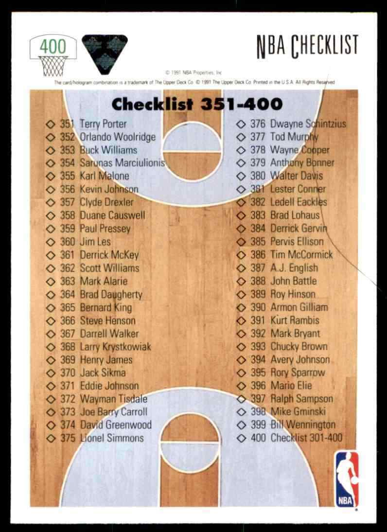 thumbnail 71 - 1991-92 Upper Deck Basketball NBA Choose Your Player -Real Pics Rookie Star (B