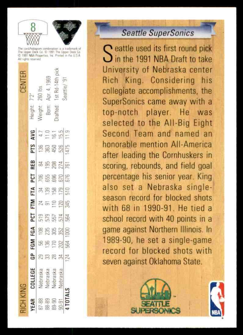 thumbnail 332 - 1991-92 Upper Deck Basketball NBA Choose Your Player -Real Pics Rookie Star (B