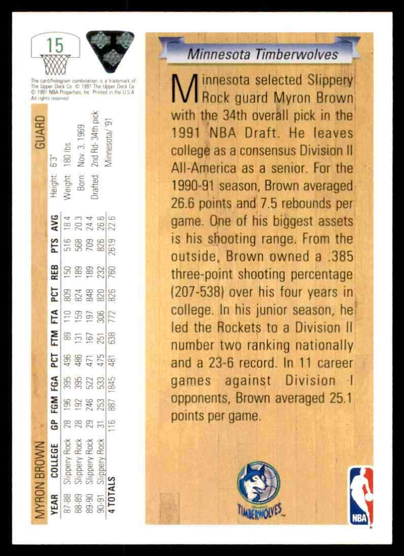 thumbnail 296 - 1991-92 Upper Deck Basketball NBA Choose Your Player -Real Pics Rookie Star (B