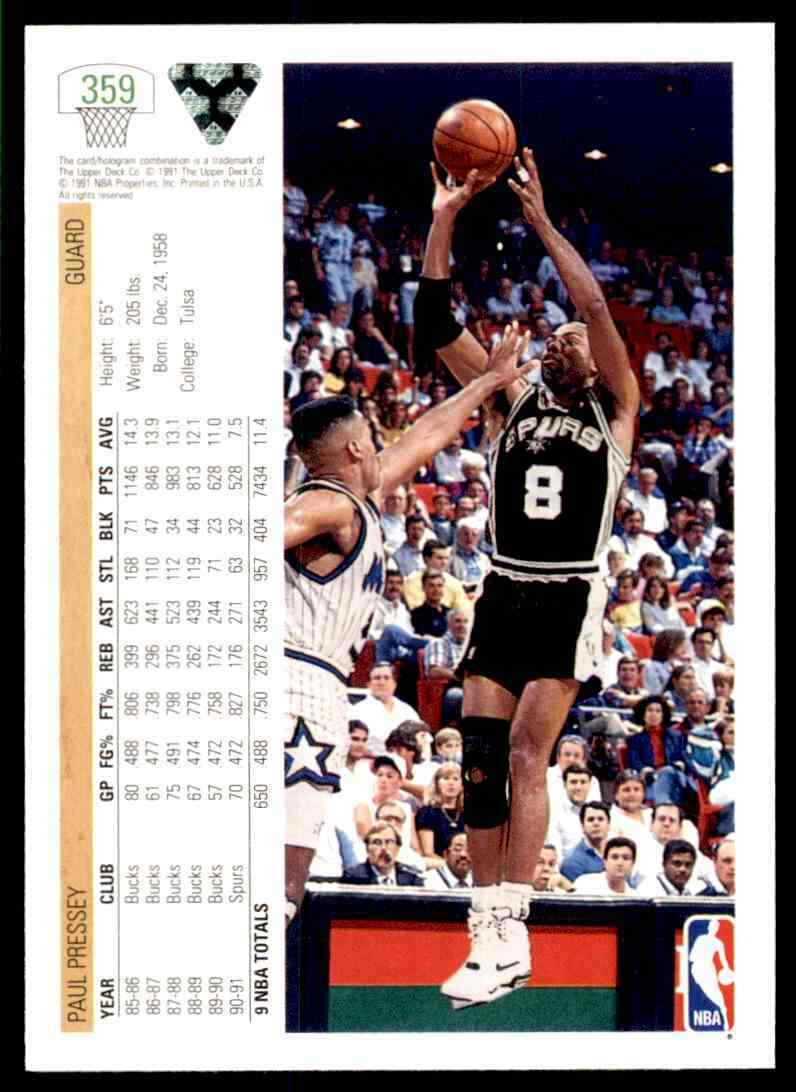 thumbnail 306 - 1991-92 Upper Deck Basketball NBA Choose Your Player -Real Pics Rookie Star (B