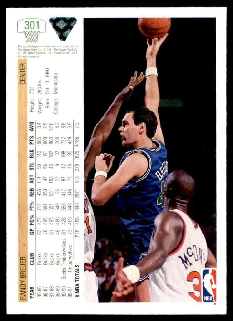 thumbnail 312 - 1991-92 Upper Deck Basketball NBA Choose Your Player -Real Pics Rookie Star (B