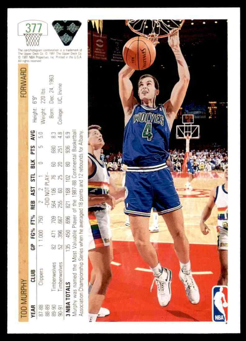 thumbnail 395 - 1991-92 Upper Deck Basketball NBA Choose Your Player -Real Pics Rookie Star (B